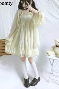 Sweet Lolita Dwuczęściowa Sukienka Z Szyfonu