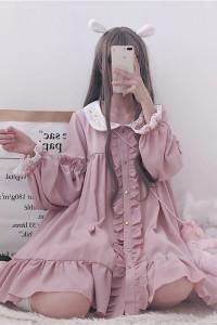Sweet Lolita Różowa Sukienka Harajuku Kawaii