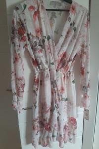 NOWA sukienka w kwiatki