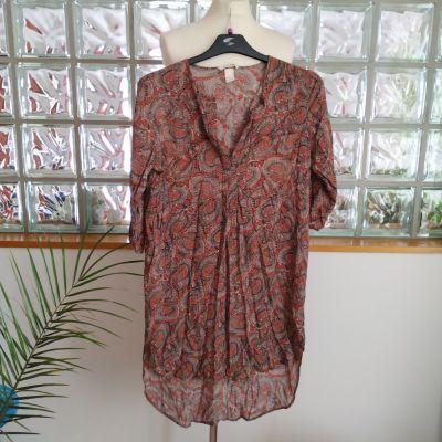 Tuniki Długa tunika koszulowa