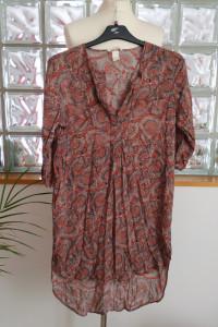 Długa tunika koszulowa