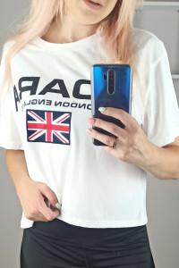 Biały Tshirt TOP H&M rozmiar M 38 outlet...