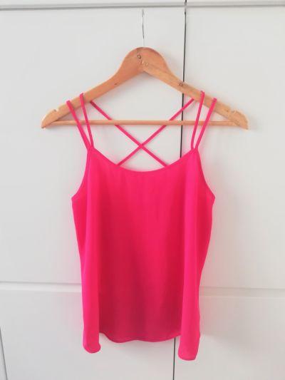 Bluzki Różowa neonowa bluzka Papaya