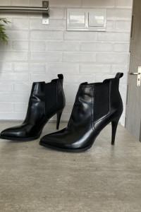 Bershka czarne botki na obcasie szpic rozmiar 37 obcas 10cm bardzo wygodne i stabilne