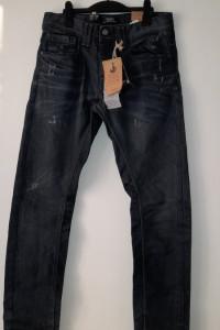 Bershka Męskie jeansy z przetarciami 38