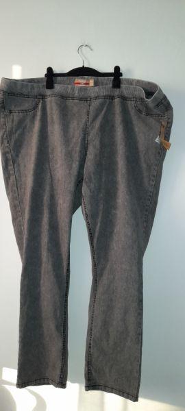 Spodnie Szare spodnie rurki skinny tregginsy plus size 56
