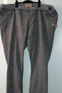 Szare spodnie rurki skinny tregginsy plus size 56...