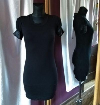 Suknie i sukienki Czarna sukienka Quiz rozmiar 8 sexy odkryte plecy wiązana
