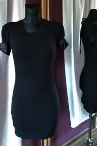 Czarna sukienka Quiz rozmiar 8 sexy odkryte plecy wiązana...