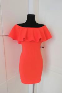 Pomarańczowa neonowa sukienka hiszpanka Party Summer Mohito...