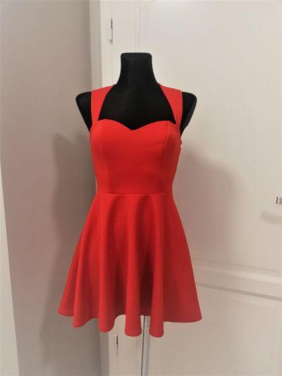 Suknie i sukienki Czerwona rozkloszowana sukienka oneness Wesele