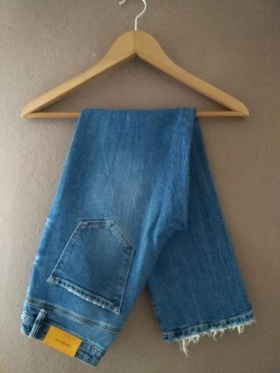 Spodnie Jeansy straight fit 36 S