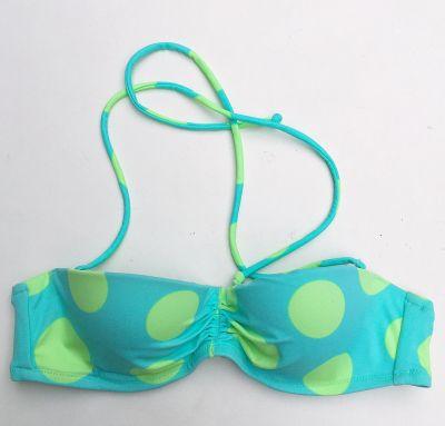 Stroje kąpielowe Strój Kostium Kąpielowy 75A Victoria s Secret 34A GÓRA Kropki ZIelony
