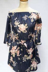 Sukienka Kwiaty Hiszpanka Odkryte Ramiona Dennis Maglic M 38...