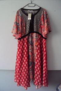 kolorowa sukienka boho...