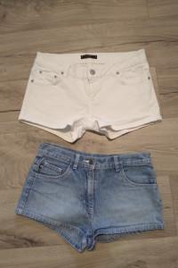 Spodenki szorty jeansowe zestaw XS...