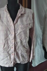 biało różowa koszula flanelowa w kratkę Secret Possessions 36 3...