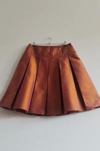 Max Co jedwab szantung miedziana plisowana spódnica...