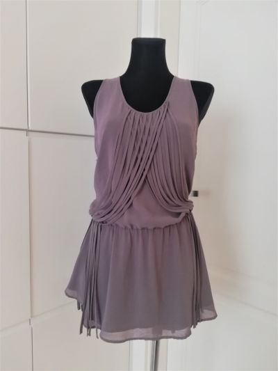 Suknie i sukienki Szara sukienka tunika Warehouse