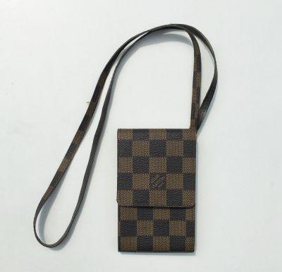 Obudowy i etui Etui Na Klucze Karty Telefon Brązowe Logowane Louis Vuitton