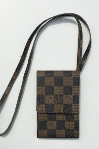 Etui Na Klucze Karty Telefon Brązowe Logowane Louis Vuitton...