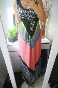 NY Collection Sukienka damska długa neon S...