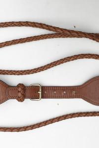 Pasek Brązowy H&M M Pleciony Warkocz 92 cm Brąz