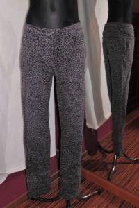 Jeansy w panterkę C&A panterka pantera szare spodnie jeansy...