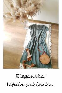 Elegancka sukienka zdobiony dekolt L