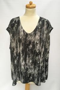 Bluzka Wzory Marmurkowa H&M Plus 48 4XL Elegancka