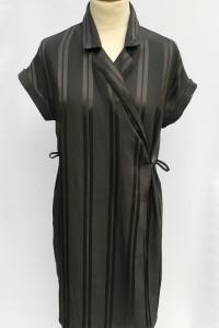Sukienka Czarna Paski Kołnierzyk Paseczki Monki XS 34