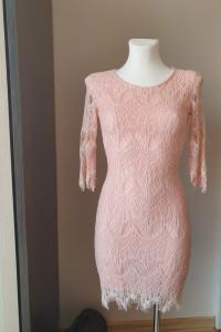 brzoskwioniowa sukienka...