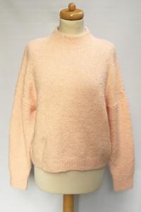 Sweter Shrinking Violet S 36 Morelowy Wełna Akryl