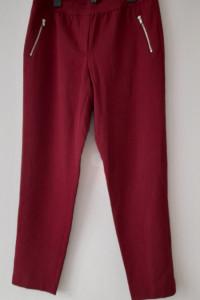 Bordowe eleganckie spodnie cygaretki 40...
