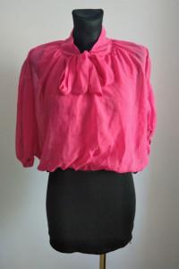 Różowo czarna sukienka mgiełka elegancka wiązana pod szyją sexy sukienka