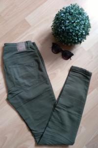 zielone spodnie rurki house 36 s...