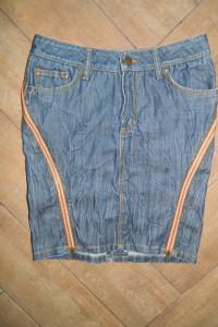 Bik Bok jeansowa spódnica zamki roz S...