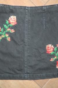 Topshop jeansowa spódnica hafty roz 38...