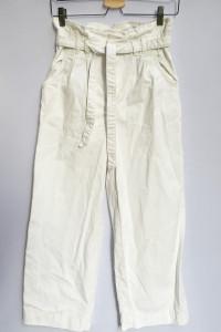 Spodnie H&M Biale Rozszerzane Nogawki M 38 Długość 7 8...