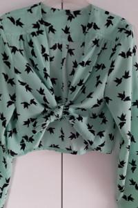 Miętowa bluzka w gołębie...