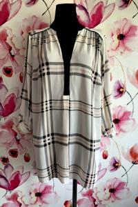 k&d london bluzka elegancka modny wzór kratka jak nowa hit 48...