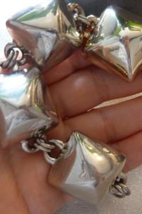 bransoleta srebrna piramidy...