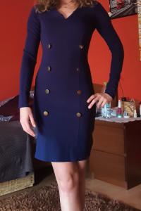Granatowa sukienka XXS XS 32 34...