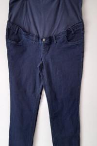 Granatowe ciążowe jeansy rurki skinny 48...