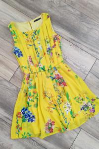 Sukienka w KWIATY Atmosphere Floral 36 38 Żółta...