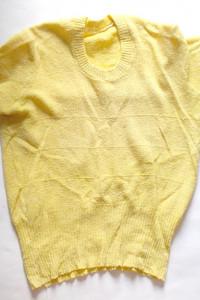 żółty top żółta bluzka krótki rękaw...
