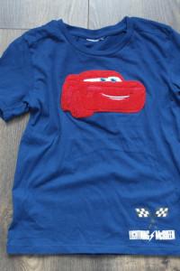Tshirt granatowy z samochodem 104 110