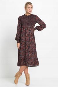 Wzorzysta sukienka w stylu vintage...