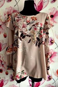 river island bluzka modny wzór i fason kwiaty jak nowa 42 44...