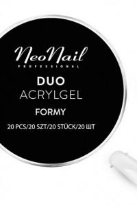 NeoNail formy duo do akrylożelu 20 sztuk NOWE